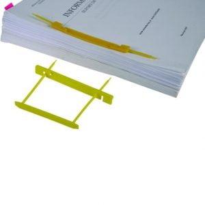 Poza la Alonje indosariere Dossy Fix galben capacitate 500 coli pentru cutii de arhivare plastic 25 buc/um