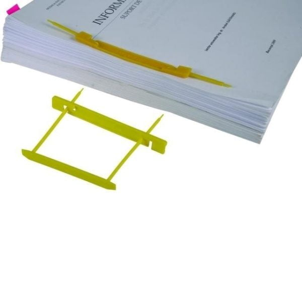 Poza Alonje indosariere Dossy Fix galben capacitate 500 coli pentru cutii de arhivare plastic 25 buc/um