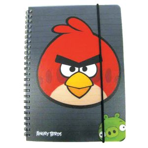 Poza Caiet cu spira Angry Birds A5