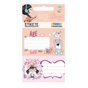 Poza la Etichete caiet pentru fetite