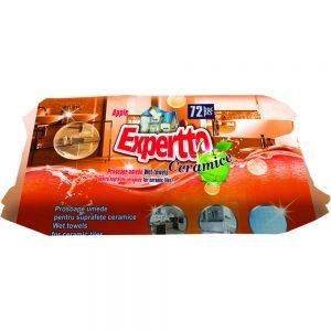 Poza Servetele umede Expertto pentru suprafete ceramice