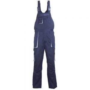 Poza la Pantaloni cu pieptar tercot 245g/mp bluemarin marime XXL