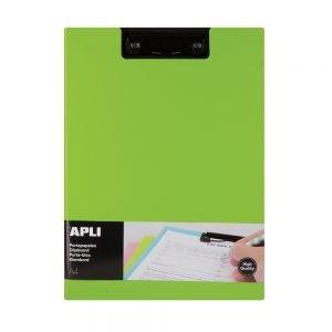 Poza la Clipboard Apli A4 PP cu clapa verde