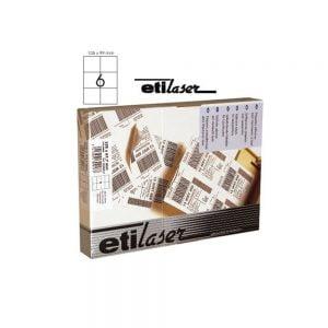 Poza la Etichete autoadezive 6A4 105 x 99 mm 200 colitop ETILASER